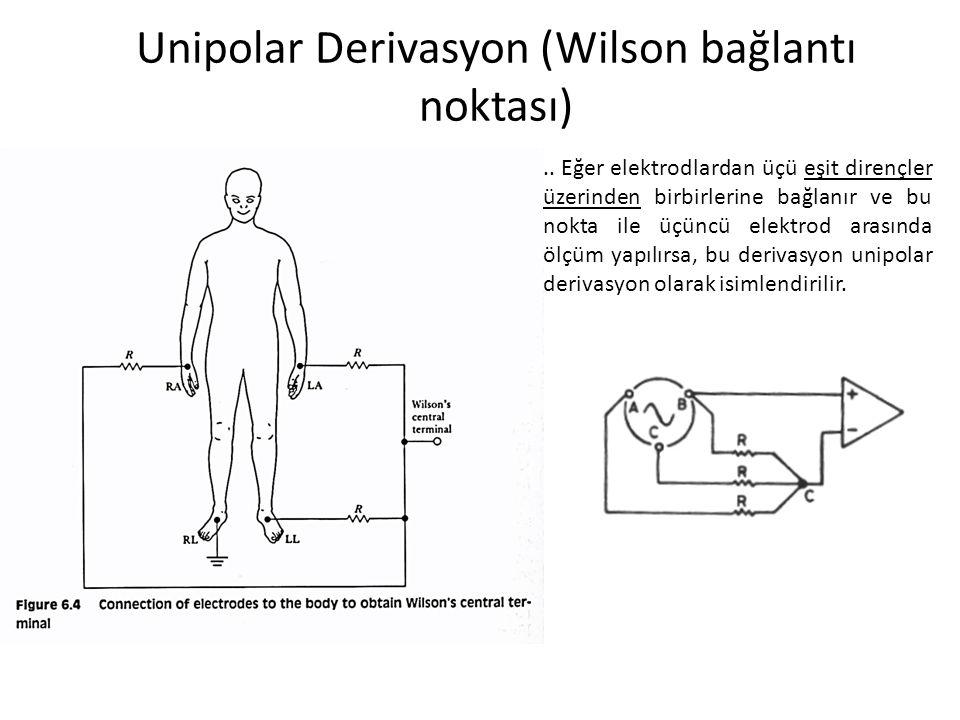 Unipolar Derivasyon (Wilson bağlantı noktası)