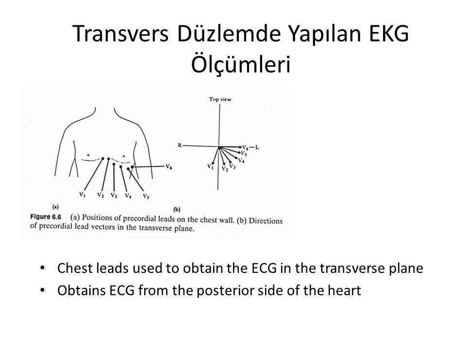 Transvers Düzlemde Yapılan EKG Ölçümleri