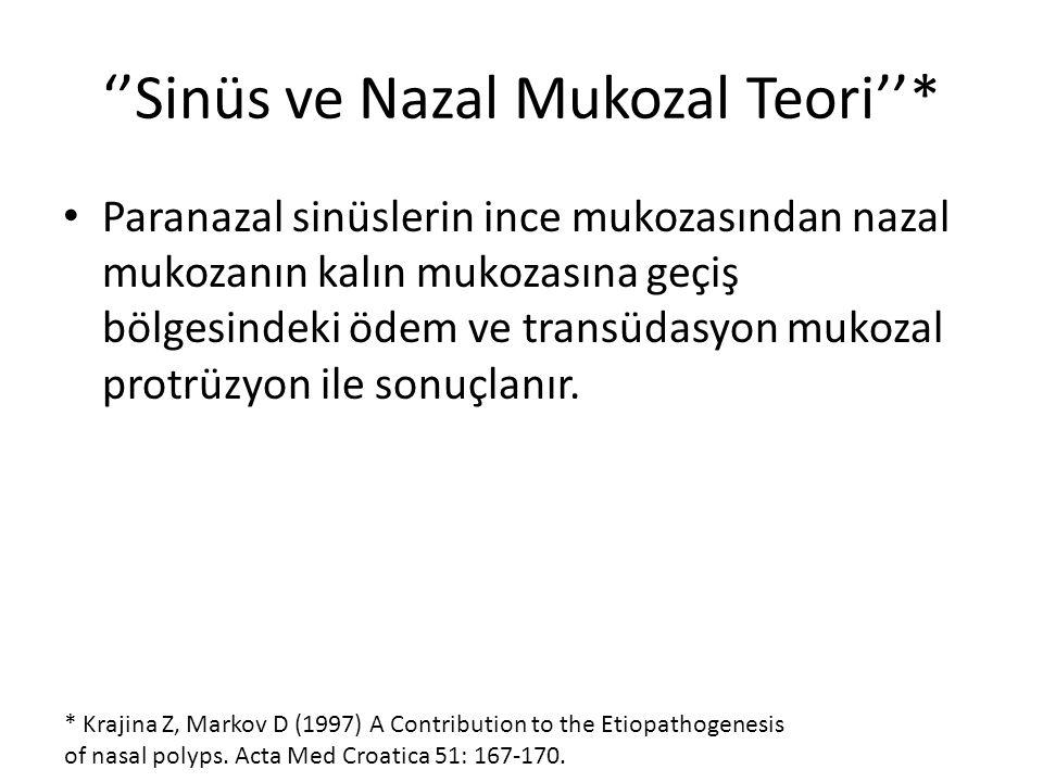 ''Sinüs ve Nazal Mukozal Teori''*