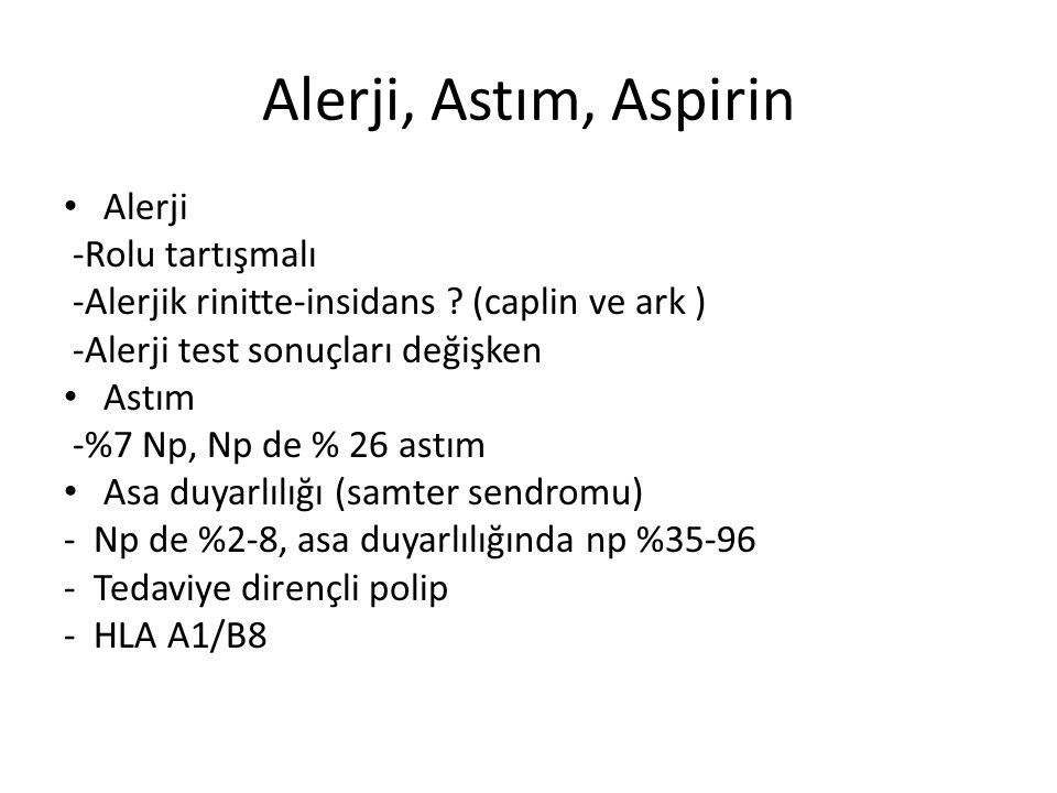 Alerji, Astım, Aspirin Alerji -Rolu tartışmalı