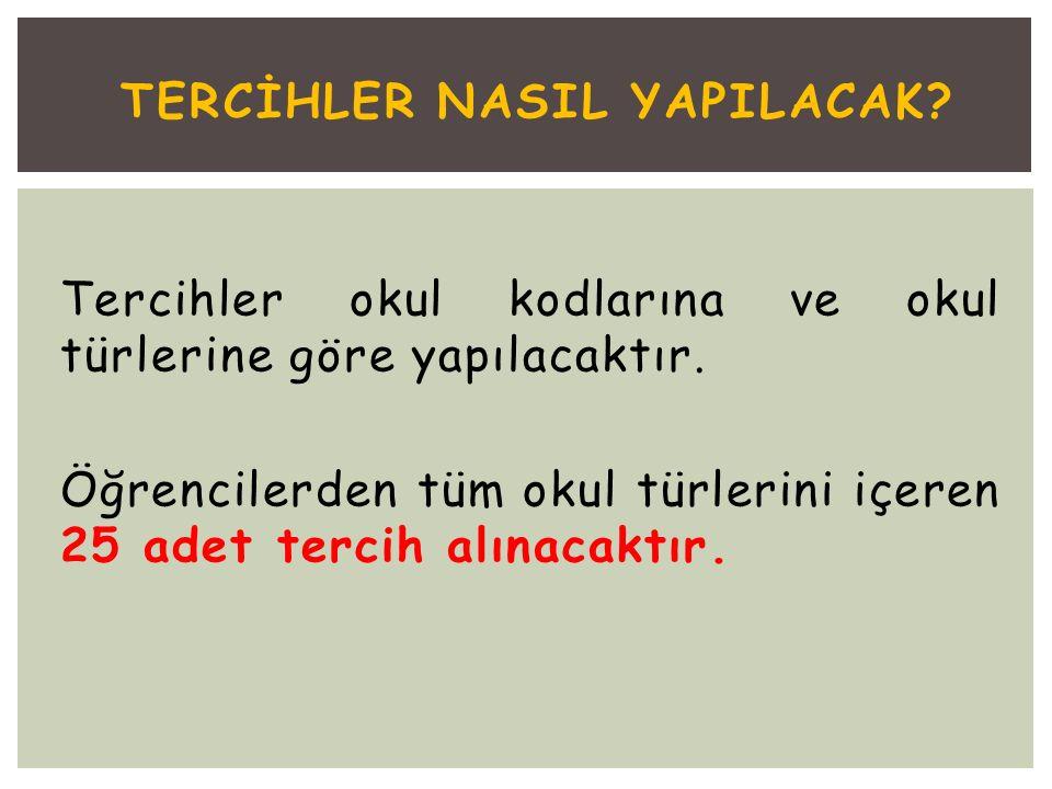 TERCİHLER NASIL YAPILACAK