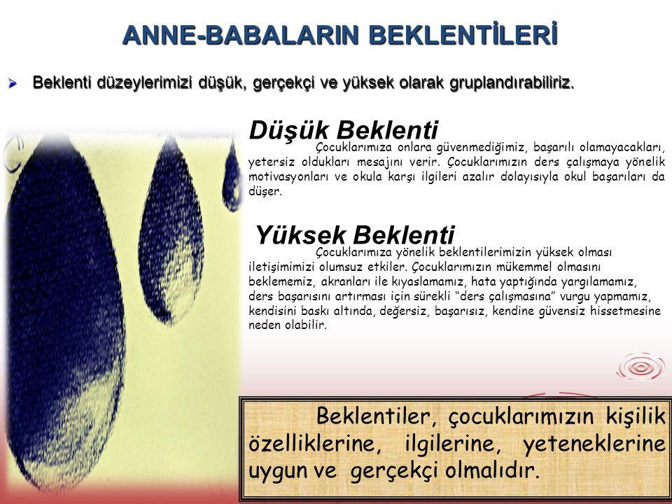 ANNE-BABALARIN BEKLENTİLERİ