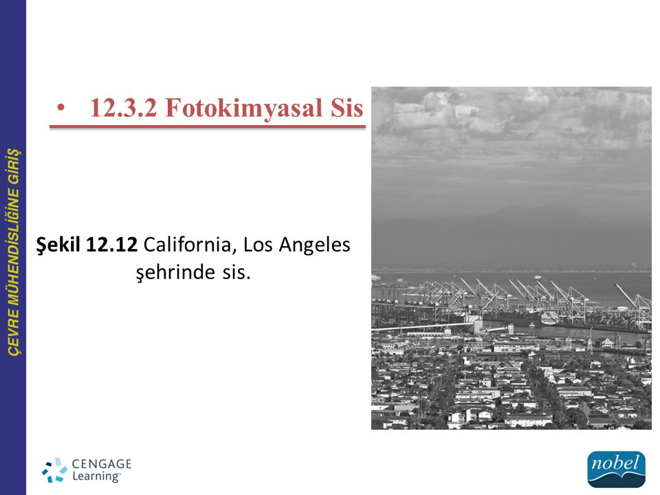 Şekil 12.12 California, Los Angeles şehrinde sis.