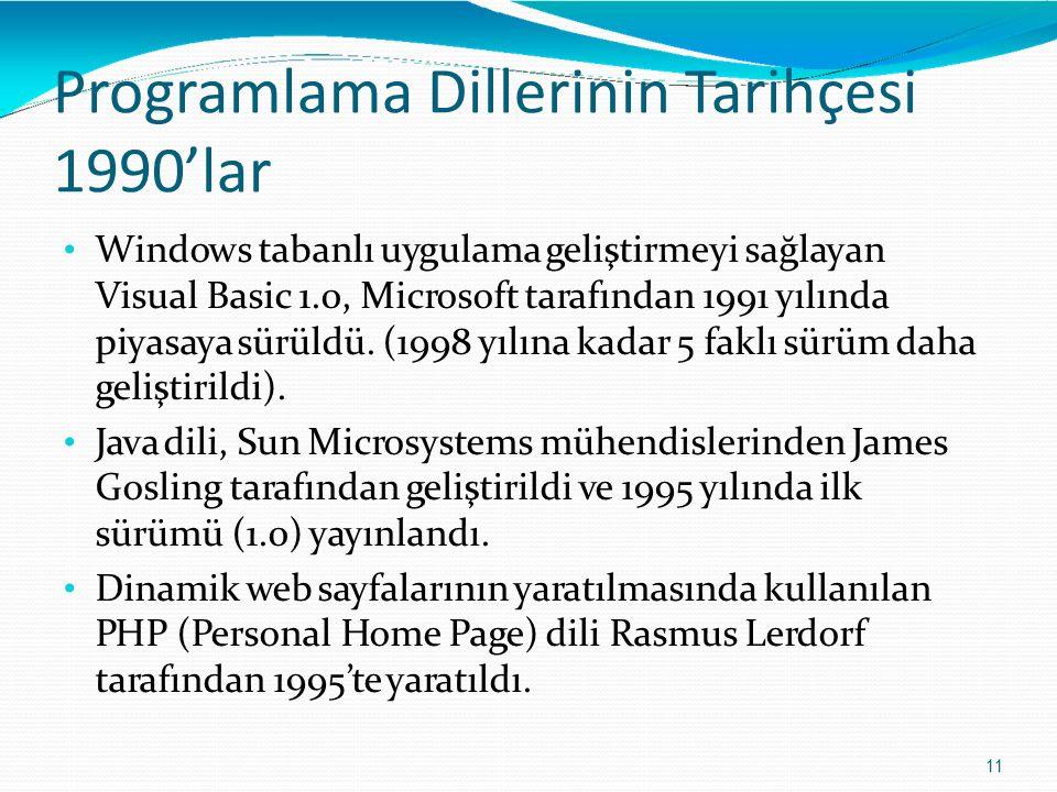 Programlama Dillerinin Tarihçesi 1990'lar