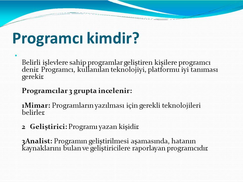 Programcı kimdir •