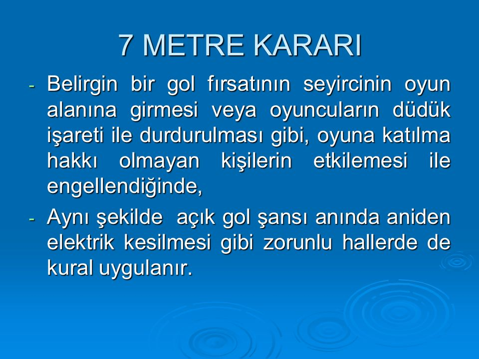 7 METRE KARARI