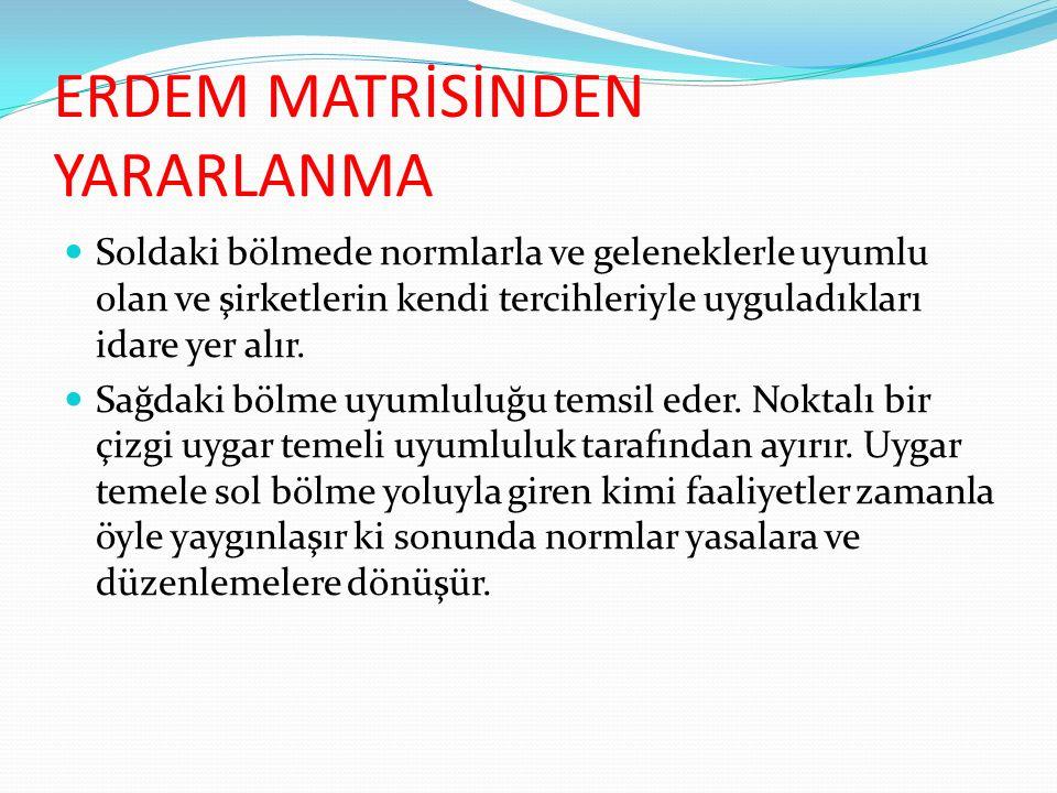 ERDEM MATRİSİNDEN YARARLANMA