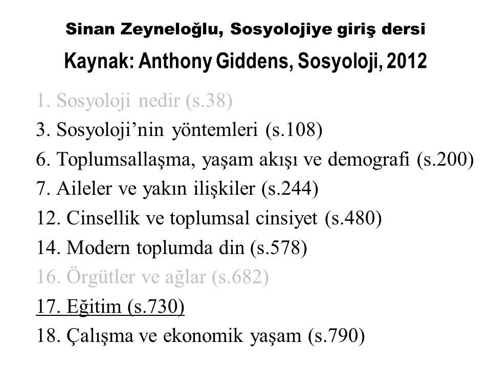 3. Sosyoloji'nin yöntemleri (s.108)