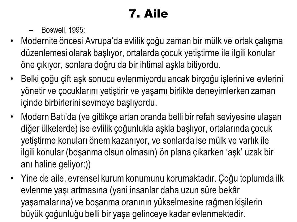 7. Aile Boswell, 1995: