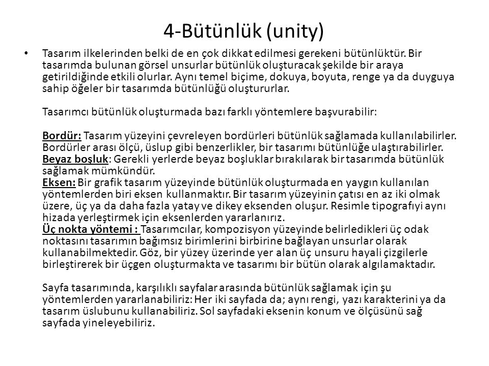 4-Bütünlük (unity)
