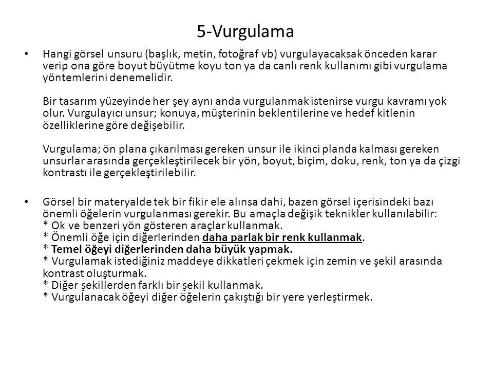 5-Vurgulama