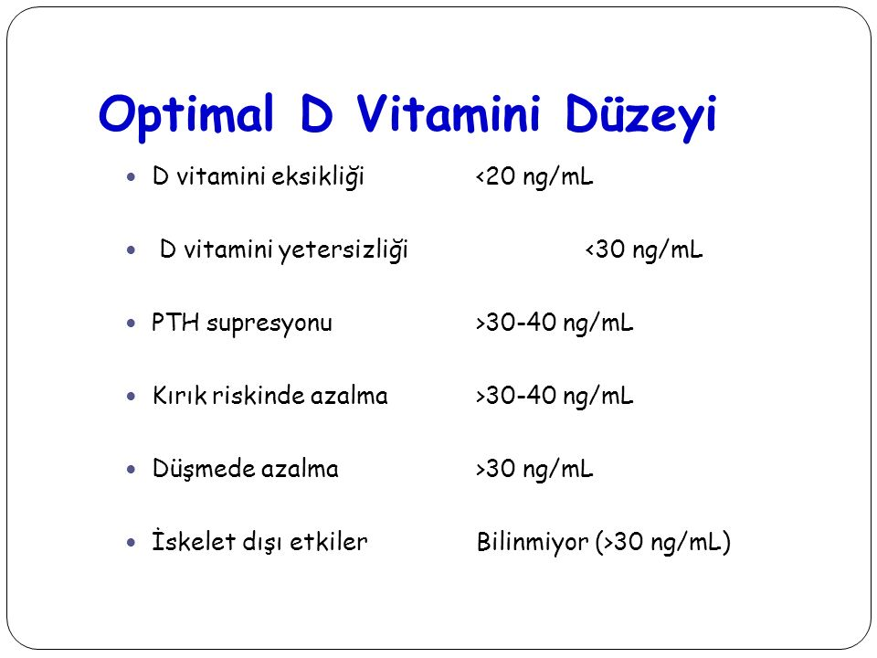 Optimal D Vitamini Düzeyi