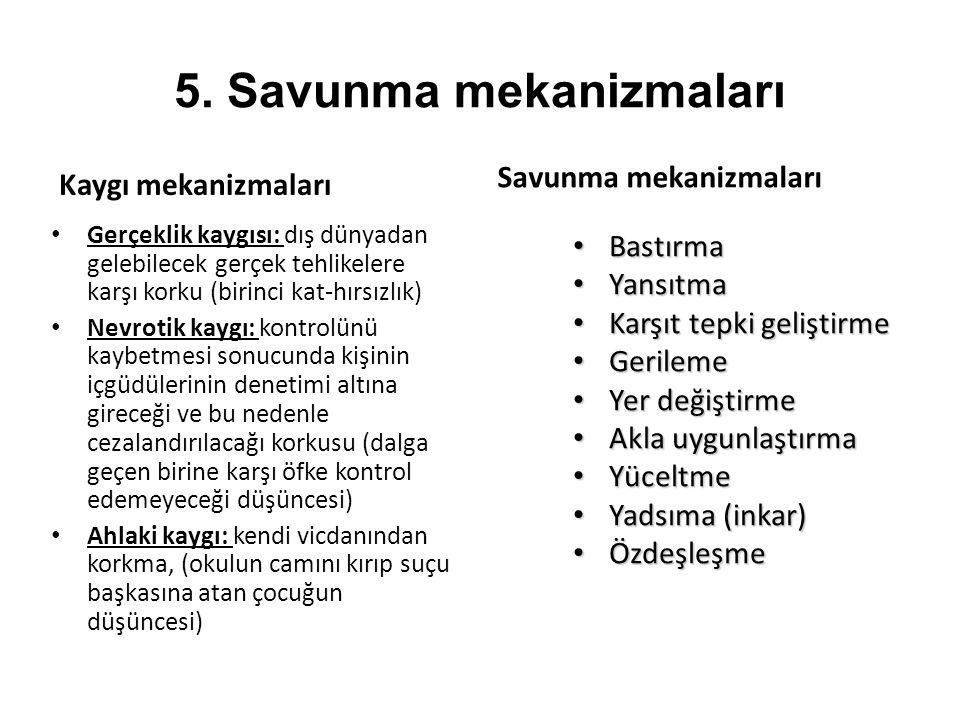 5. Savunma mekanizmaları