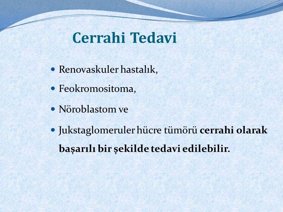 Cerrahi Tedavi Renovaskuler hastalık, Feokromositoma, Nöroblastom ve