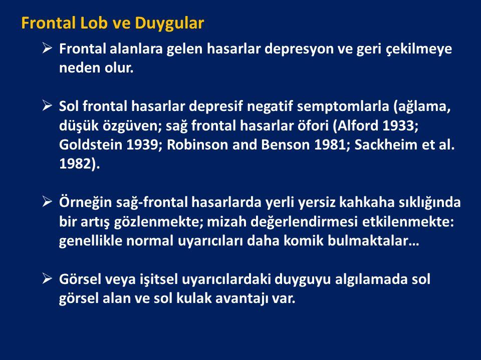 Frontal Lob ve Duygular