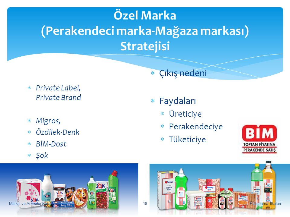 Özel Marka (Perakendeci marka-Mağaza markası) Stratejisi