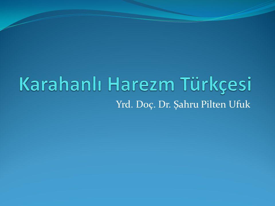 Karahanlı Harezm Türkçesi