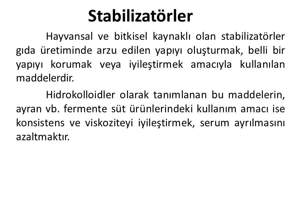 Stabilizatörler