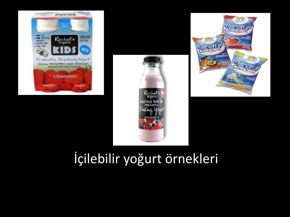 İçilebilir yoğurt örnekleri