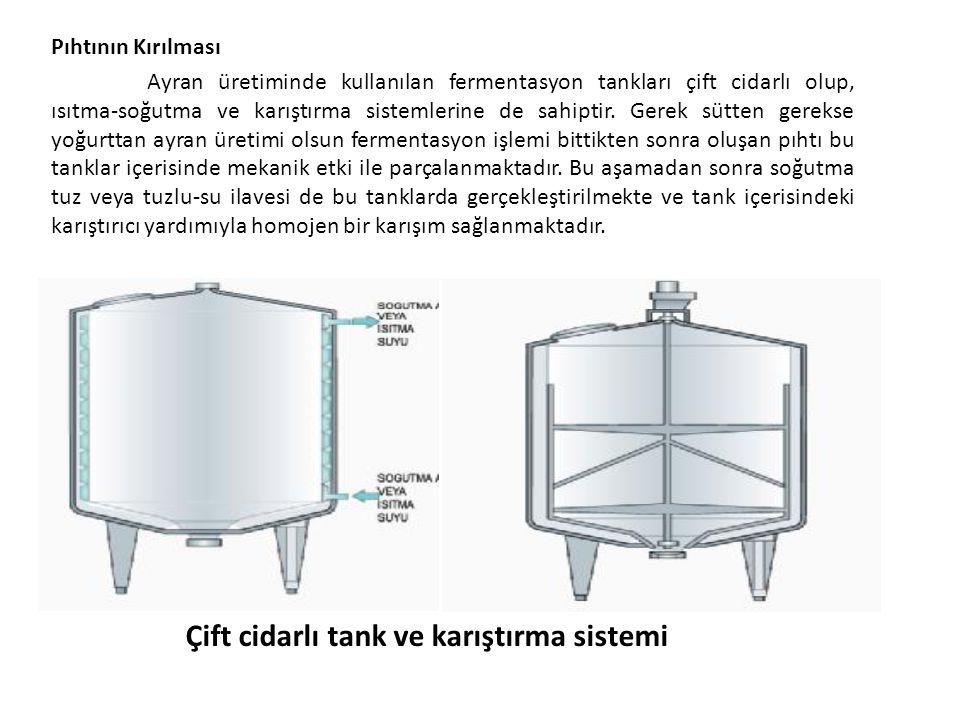 Çift cidarlı tank ve karıştırma sistemi