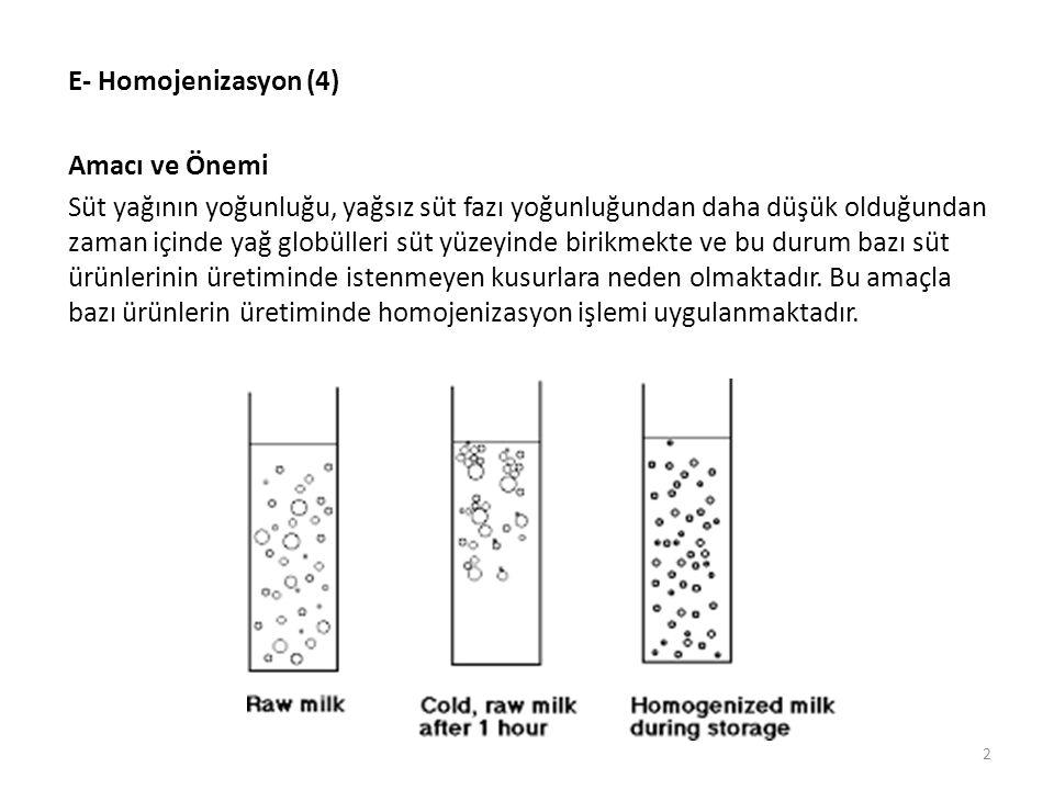 E- Homojenizasyon (4) Amacı ve Önemi.