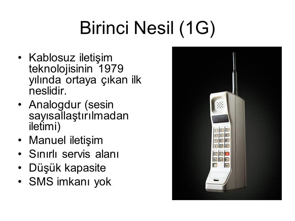 Birinci Nesil (1G) Kablosuz iletişim teknolojisinin 1979 yılında ortaya çıkan ilk neslidir. Analogdur (sesin sayısallaştırılmadan iletimi)