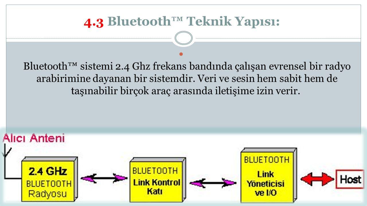 4.3 Bluetooth™ Teknik Yapısı:
