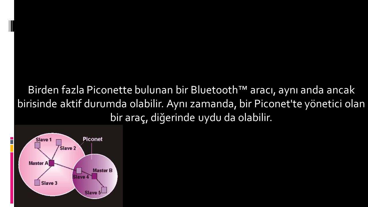 Birden fazla Piconette bulunan bir Bluetooth™ aracı, aynı anda ancak birisinde aktif durumda olabilir.