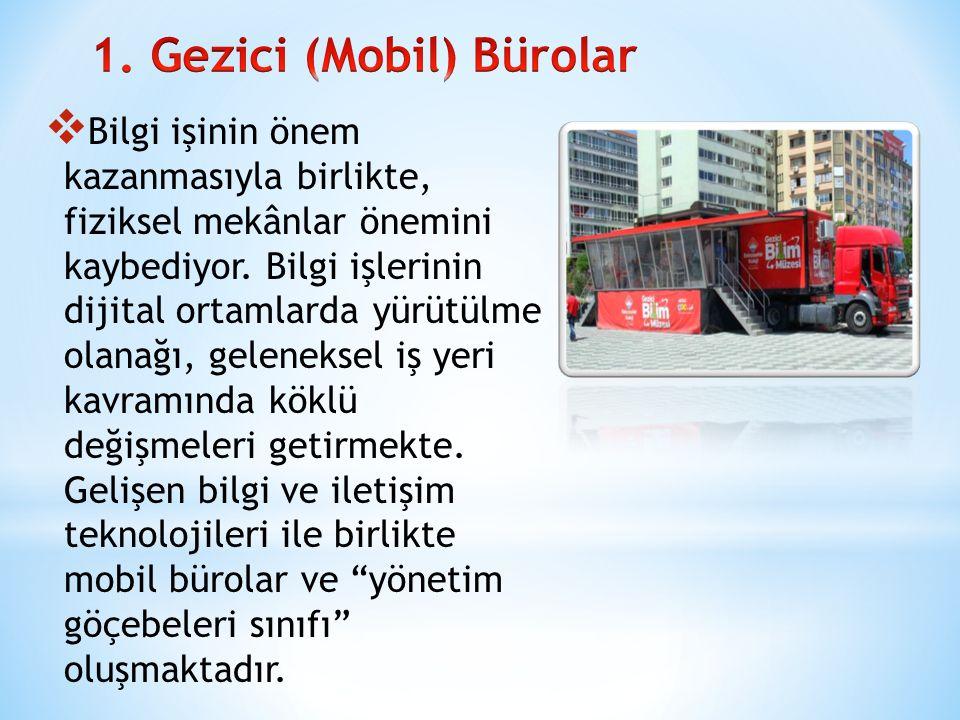 1. Gezici (Mobil) Bürolar