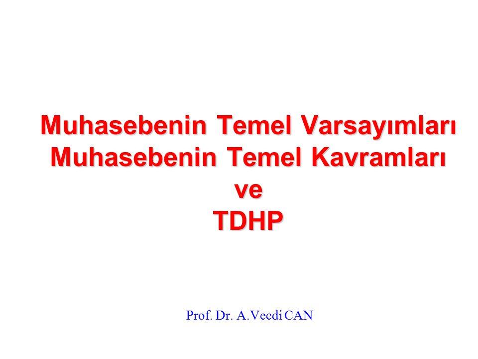 Muhasebenin Temel Varsayımları Muhasebenin Temel Kavramları ve TDHP