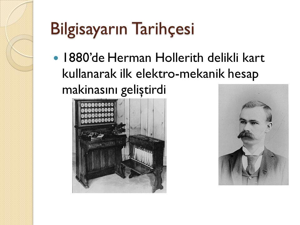 Bilgisayarın Tarihçesi