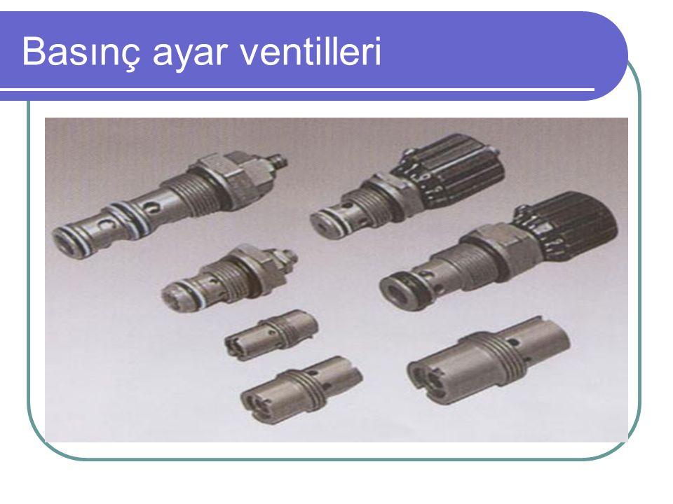 Basınç ayar ventilleri