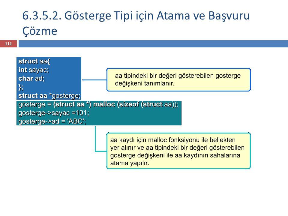 6.3.5.2. Gösterge Tipi için Atama ve Başvuru Çözme