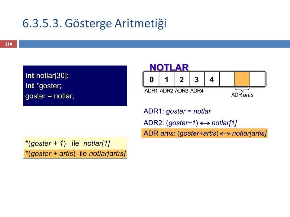 6.3.5.3. Gösterge Aritmetiği