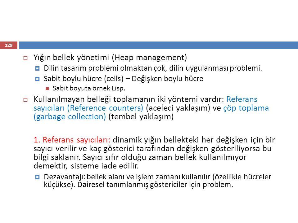 Yığın bellek yönetimi (Heap management)