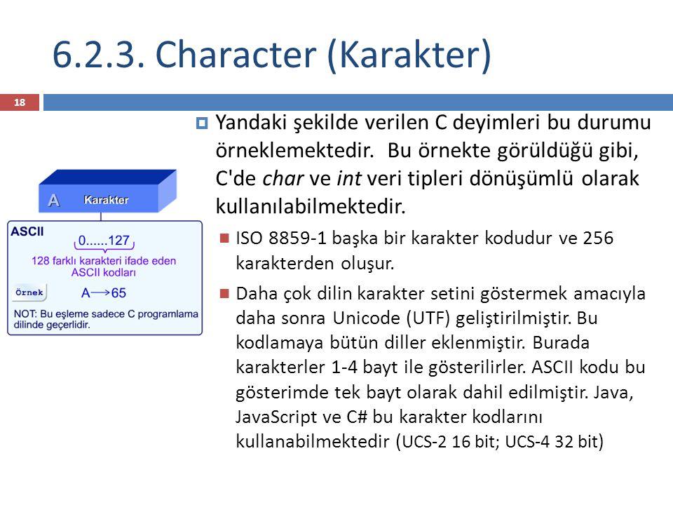 6.2.3. Character (Karakter)