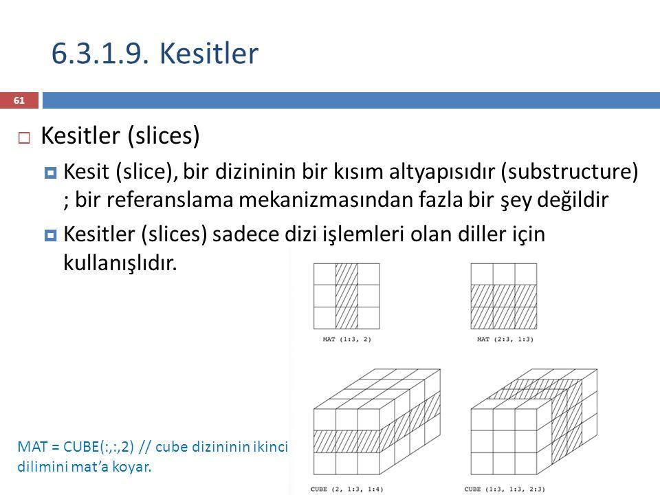 6.3.1.9. Kesitler Kesitler (slices)