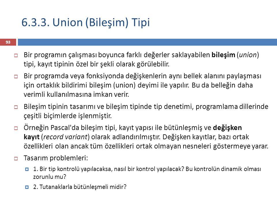 6.3.3. Union (Bileşim) Tipi
