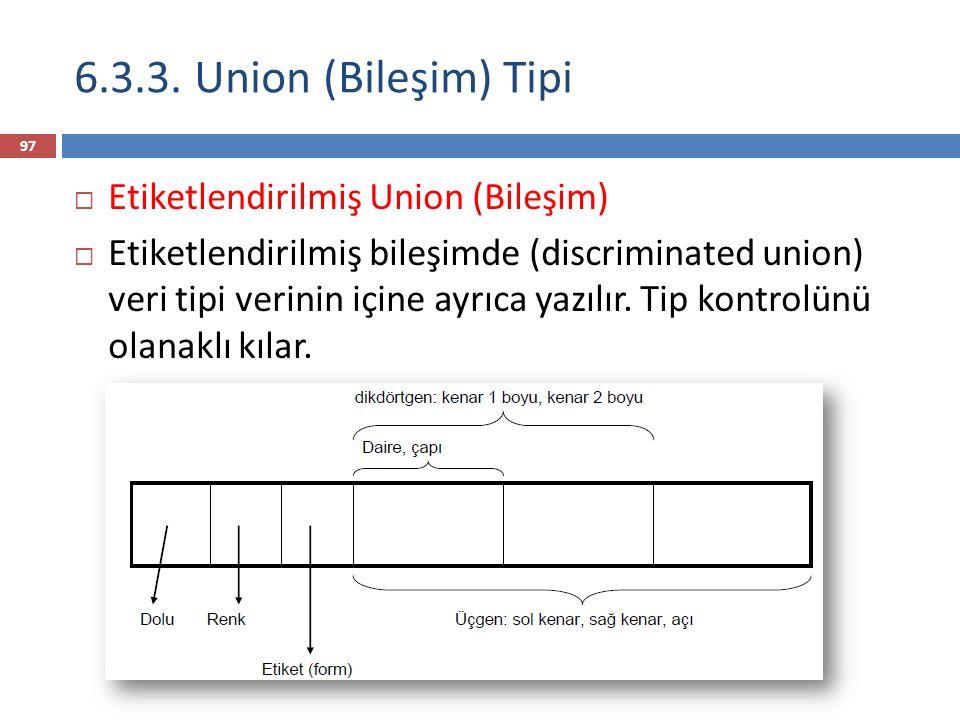 6.3.3. Union (Bileşim) Tipi Etiketlendirilmiş Union (Bileşim)
