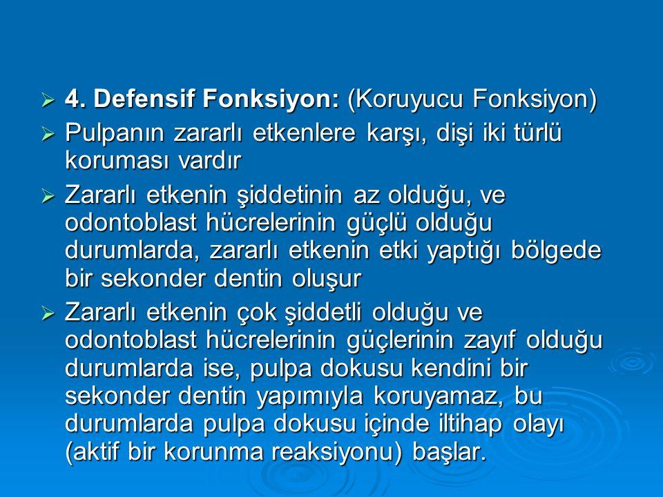 4. Defensif Fonksiyon: (Koruyucu Fonksiyon)