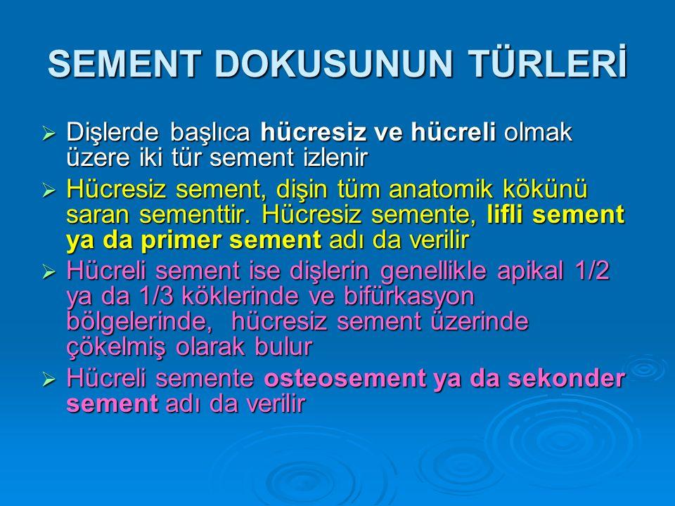 SEMENT DOKUSUNUN TÜRLERİ