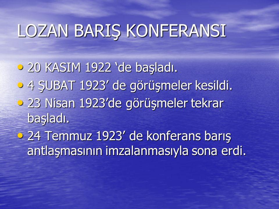 LOZAN BARIŞ KONFERANSI