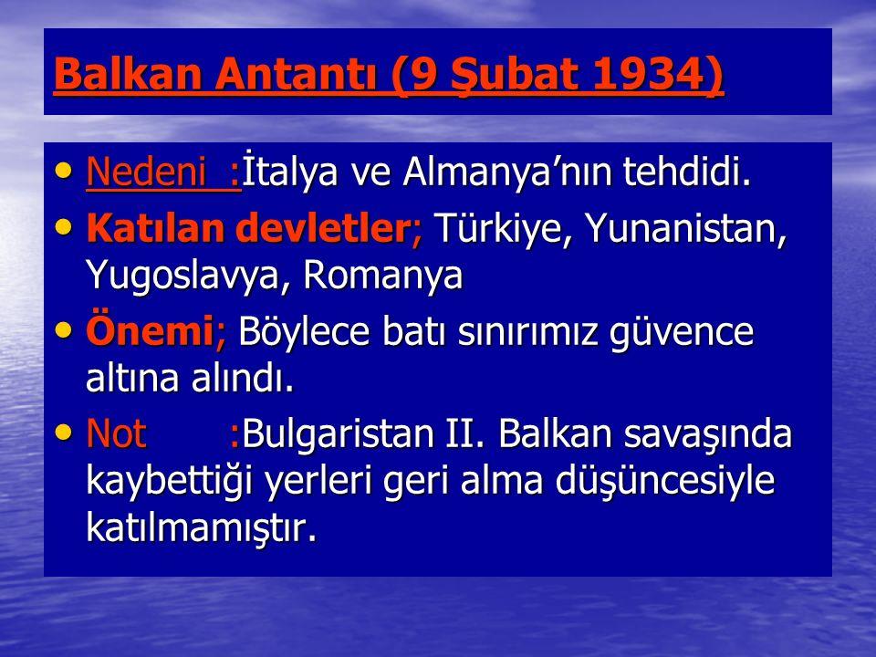 Balkan Antantı (9 Şubat 1934)