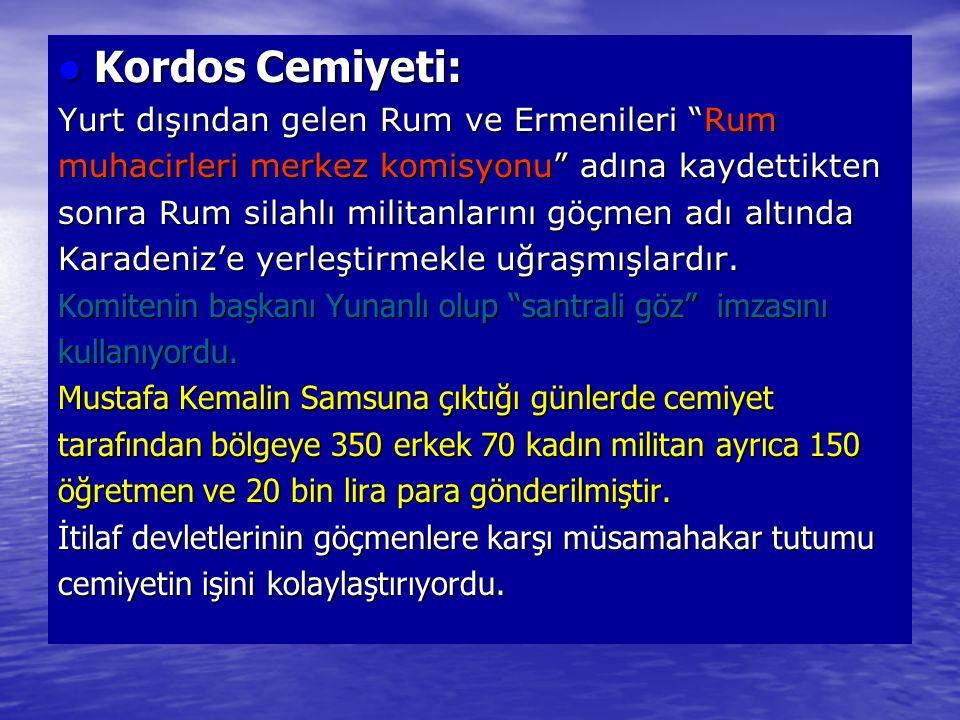 Kordos Cemiyeti: Yurt dışından gelen Rum ve Ermenileri Rum