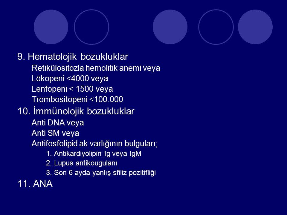9. Hematolojik bozukluklar
