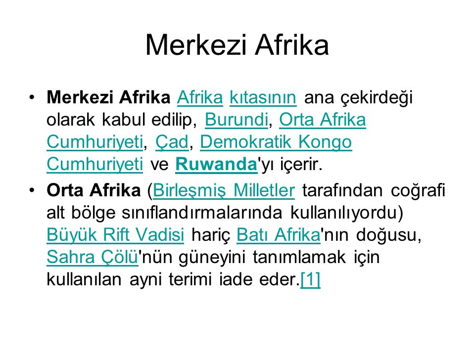 Merkezi Afrika