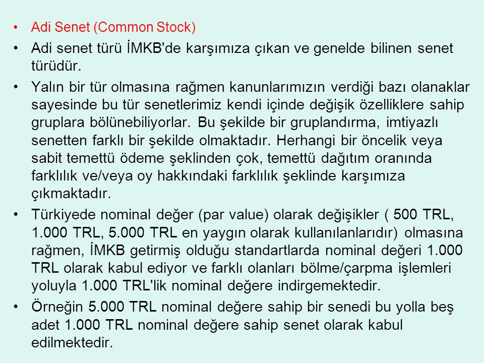 Adi Senet (Common Stock)
