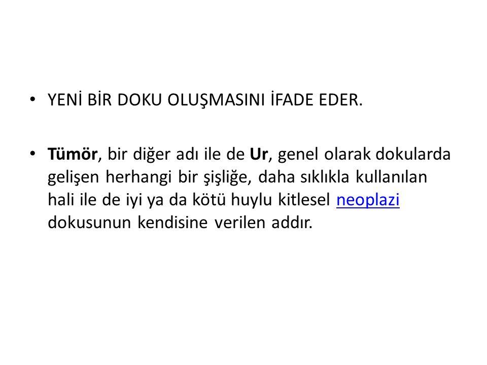 YENİ BİR DOKU OLUŞMASINI İFADE EDER.