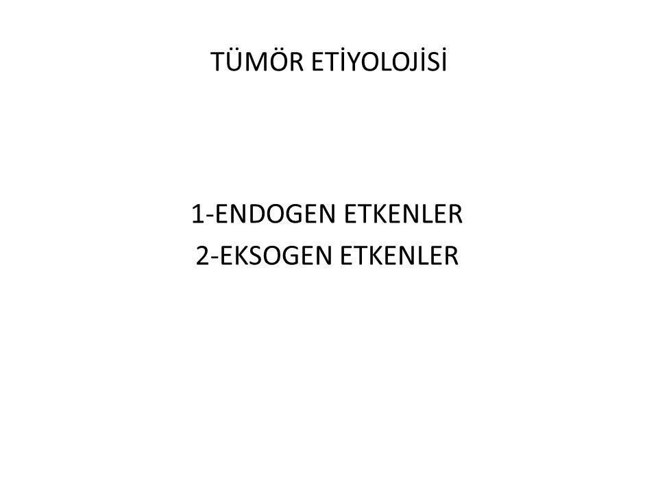 1-ENDOGEN ETKENLER 2-EKSOGEN ETKENLER