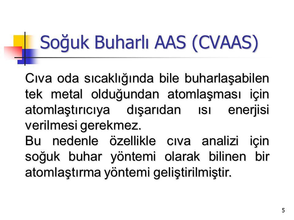 Soğuk Buharlı AAS (CVAAS)